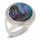 Gift jewelry-Ring-Abalone Perlmutt-Sterling Silver-Women