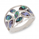 Gift jewelry-Ring-Nacre abalone-Flower-Sterling Silver-Women