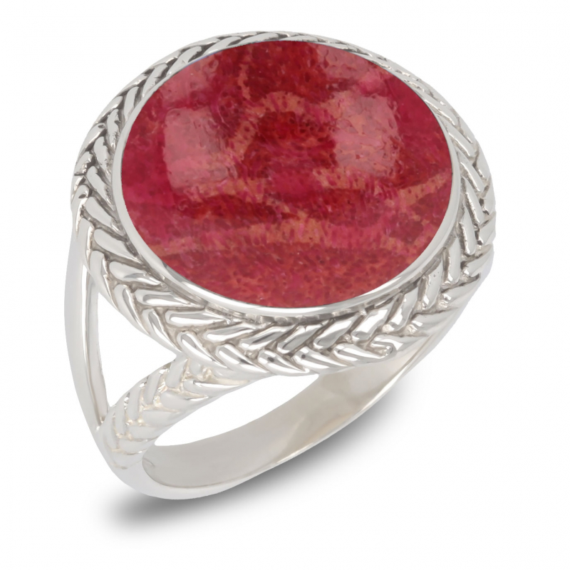 Regalo di gioielli Coral Ring Sterling Silver Woman