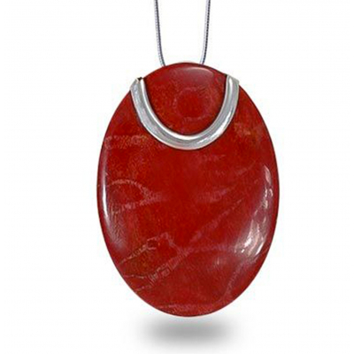 BEAUTIFUL STERLING SILVER 100% NATURAL CORAL PENDANT