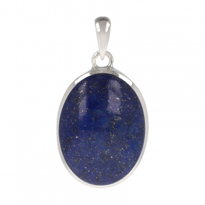 Original Gift Woman-Fine Stones-Oval Lapis Lazuli Pendant-Sterling Silver-Woman