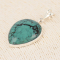 Silver pendant and turquoise pearshape silver setting