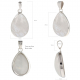 Gift Idea Mom-Moonstone Pendant White Pear-woman shape