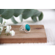 Gift Idea Woman-Fine Stones-Ring-Turquoise Stone-Sterling Silver-Woman