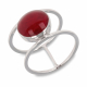 Gift Ideas Women's Jewelry-White coral Ring-Sterling Silver-Round-Woman