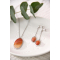 original gift woman Necklace woman orange agate and rhodium silver 925-000