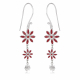 personalized gift woman-Earrings- Coral-3 flowers- Sterling silver-Woman