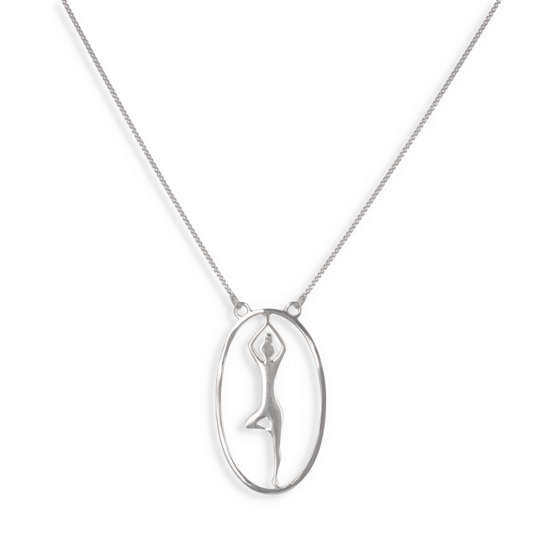 925 Sterling Silver Yoga Necklace