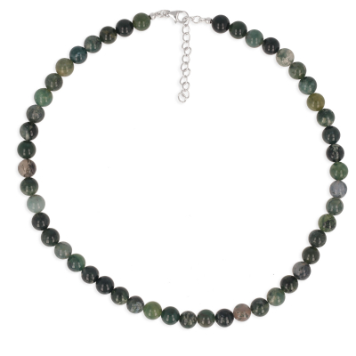 Women's necklace aquatic Agate stone with fine stones