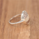 Mother of pearl natural white ring with 925-000 silverlacework