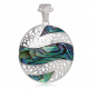 personalized gift woman-Pendant - Abalone mother-of-pearl- Sterling silver-round-Woman