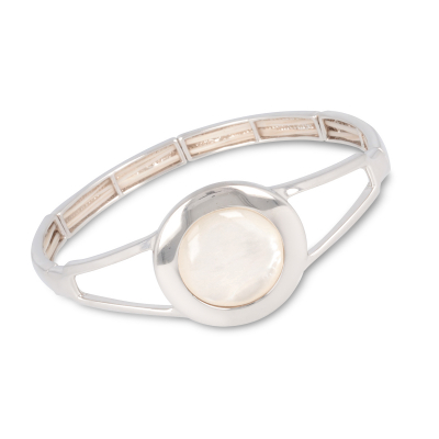 Bracelet Bangle Chic argent nacre