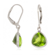 Faceted Peridot earrings setting 925 sterling silver