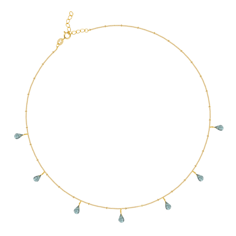 Gold Plated 925 Sterling Silver zirconium necklace