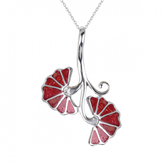 925 Sterling Silver Coral Pendant