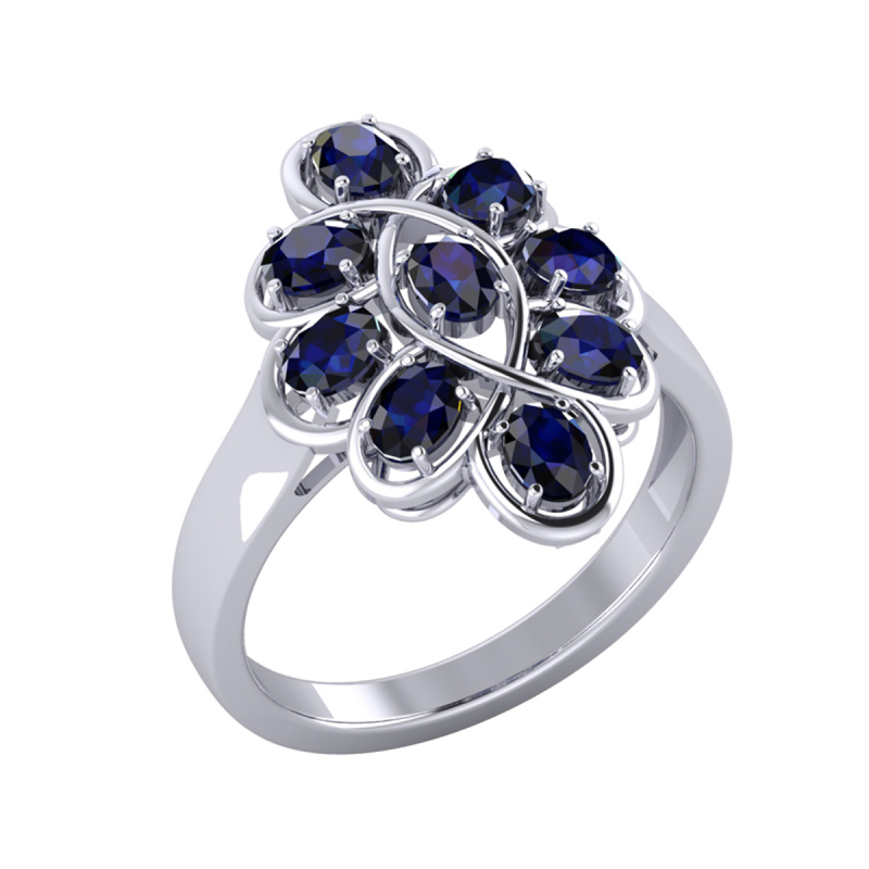 Gold Sapphire Ring 4.38grs