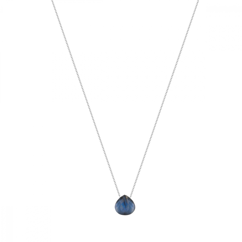 925 Sterling Silver faceted Labradorite Necklace