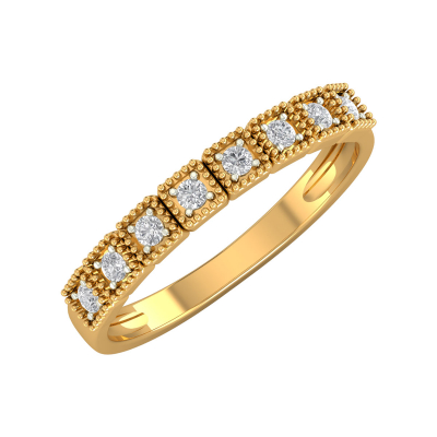 Bague Or 750 Jaune Diamants 1.99grs