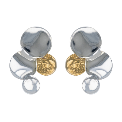 925 Sterling Silver White Mother-of-pearl Earrings