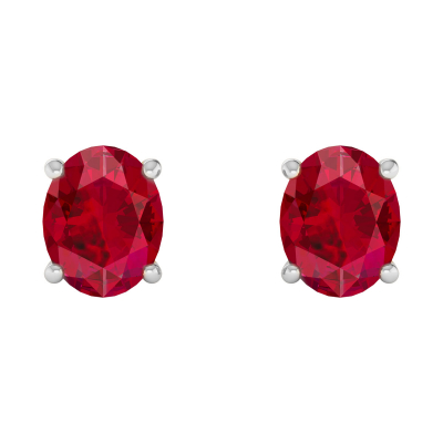 925 Silver Ruby Earrings