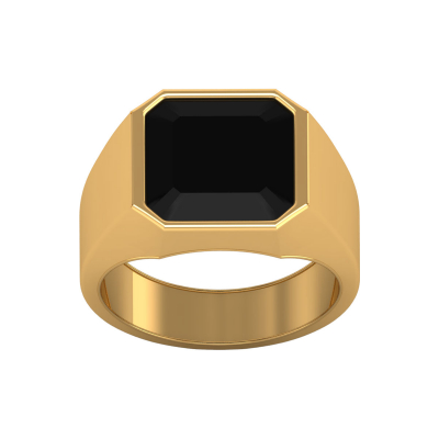 Bague Or Jaune Onyx Homme 9.25grs