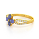 Gold Tanzanite Diamonds Ring