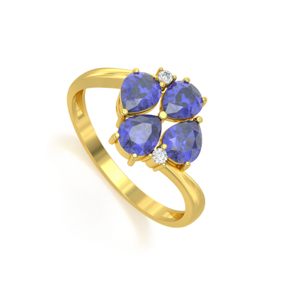 Anelli Oro Tanzanite diamanti