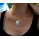 Lovely white Mother of pearl sterling silver pendant